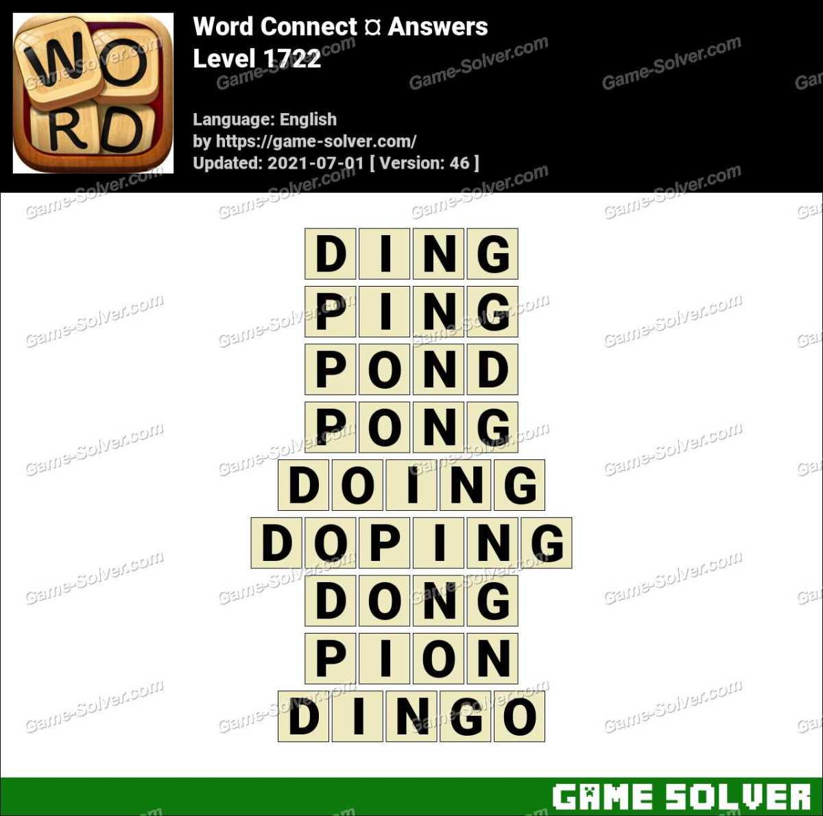 Word Connect Level 1722 Answers