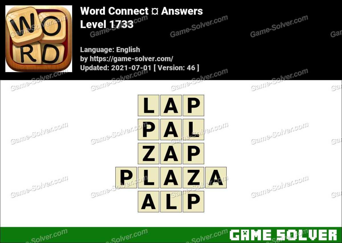 Word Connect Level 1733 Answers