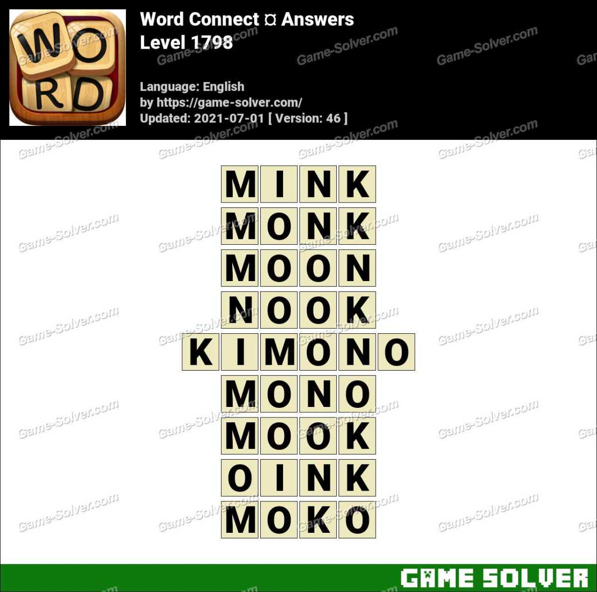 Word Connect Level 1798 Answers