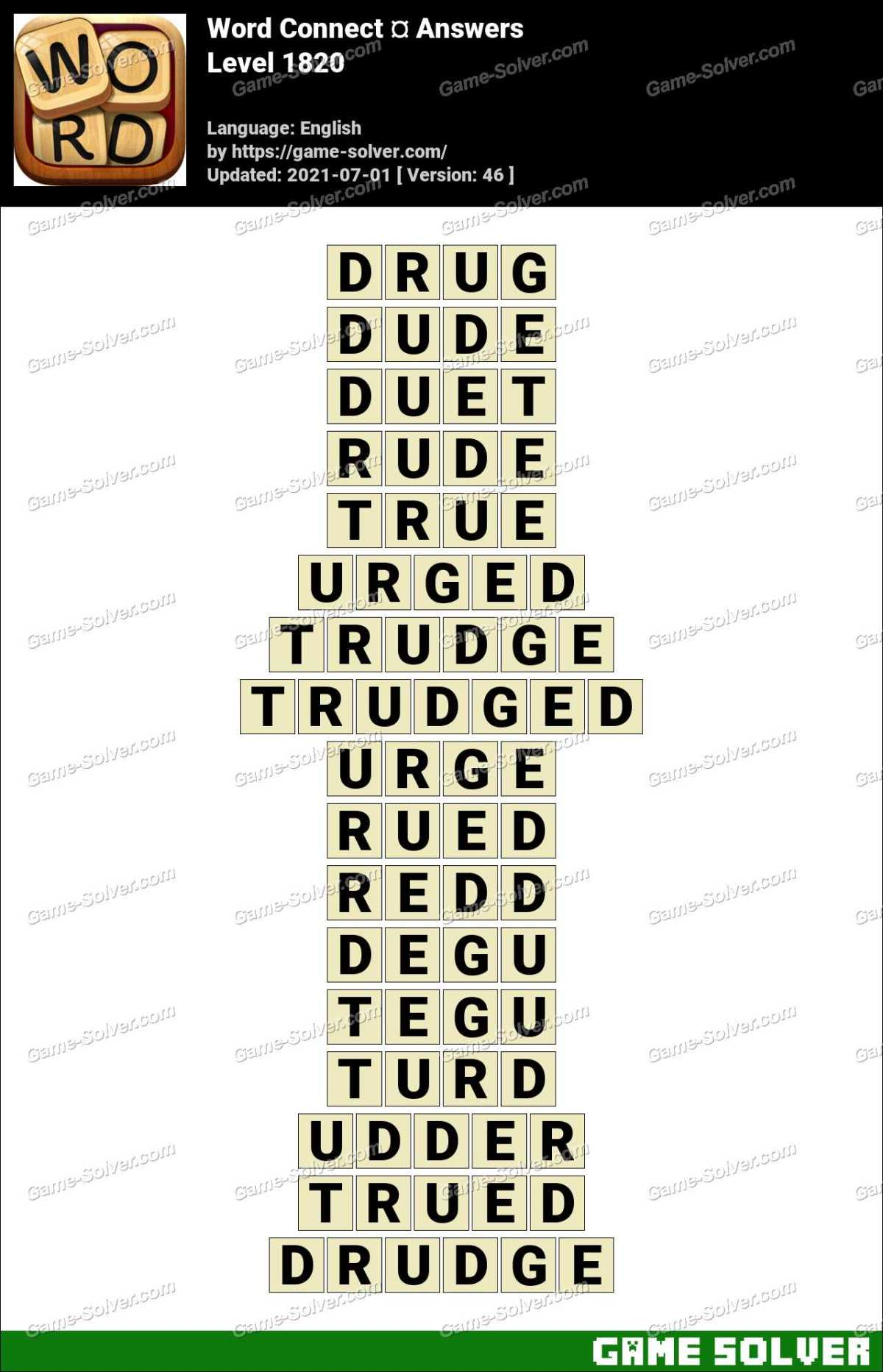 Word Connect Level 1820 Answers