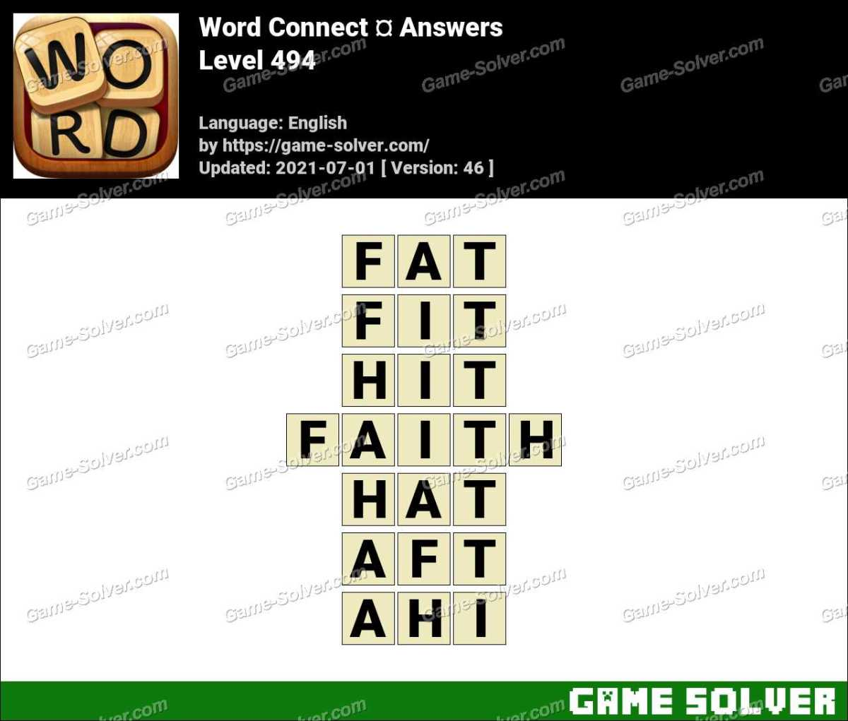 Word Connect Level 494 Answers