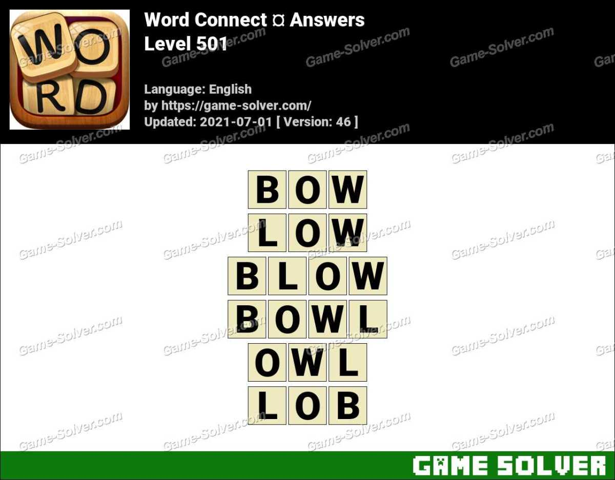 Word Connect Level 501 Answers