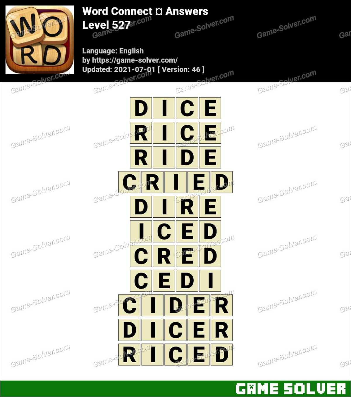 Word Connect Level 527 Answers