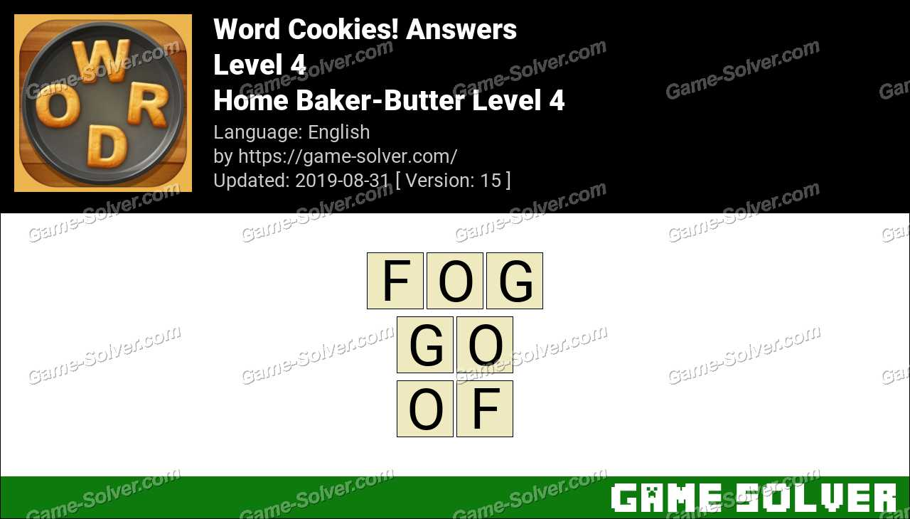 Word Cookies Home Baker-Butter Level 4 Answers