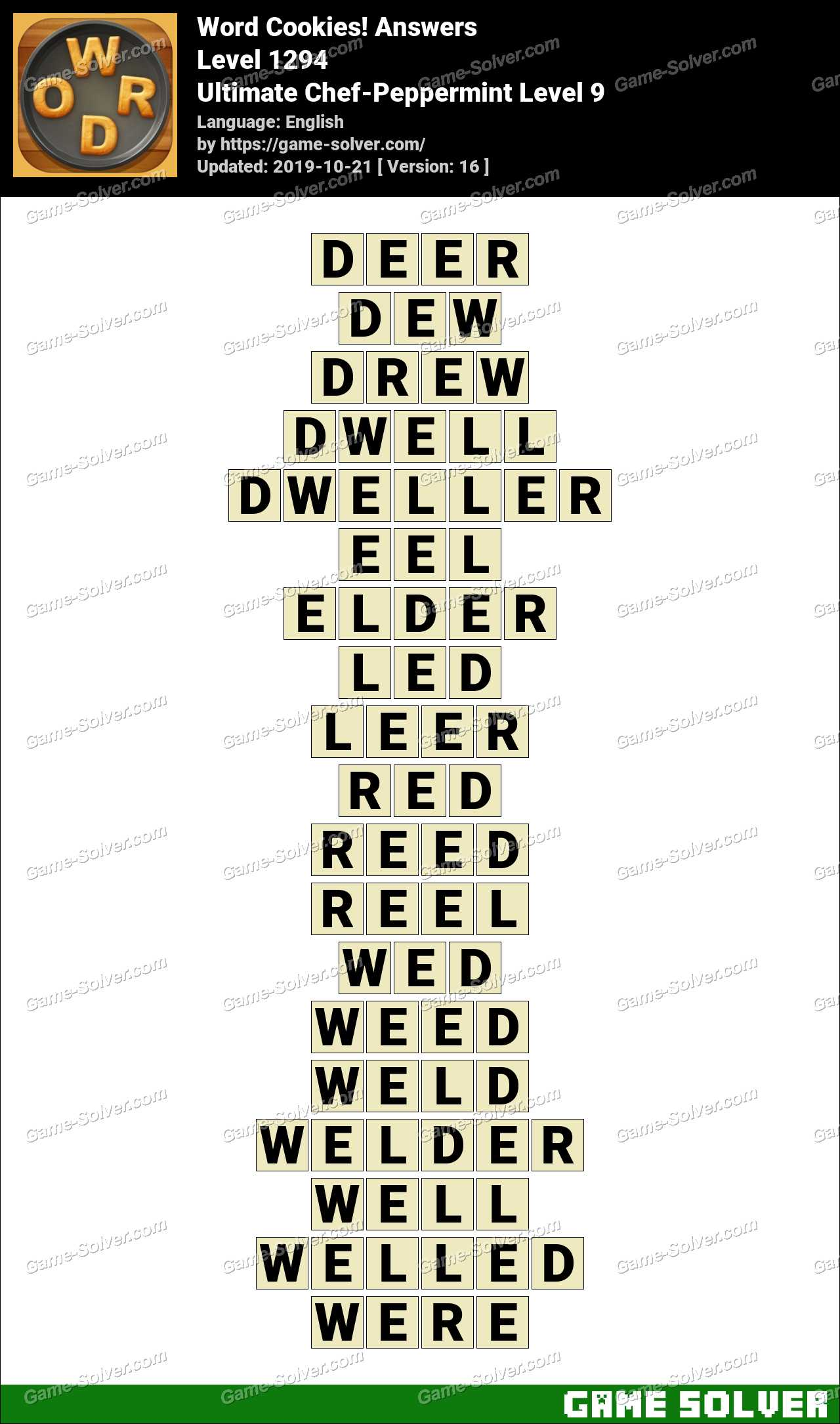 Word Cookies Ultimate Chef-Peppermint Level 9 Answers