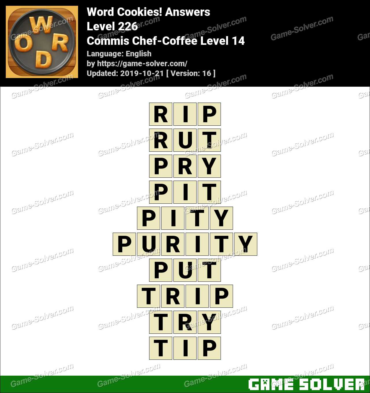 Word Cookies Commis Chef-Coffee Level 14 Answers