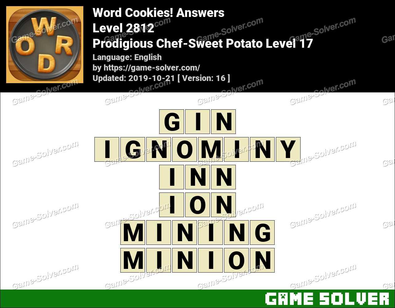 Word Cookies Prodigious Chef-Sweet Potato Level 17 Answers