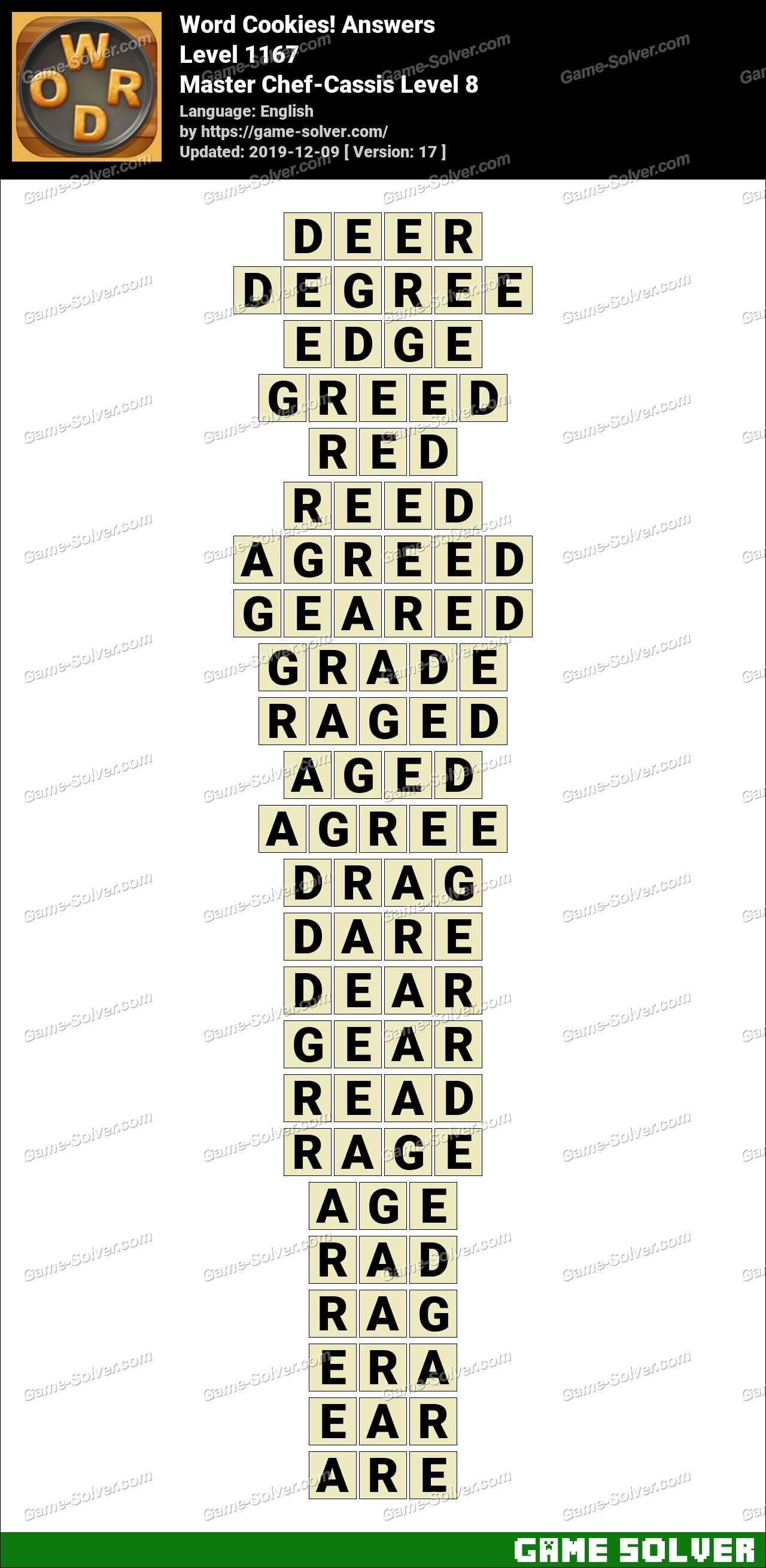 Word Cookies Master Chef-Cassis Level 8 Answers