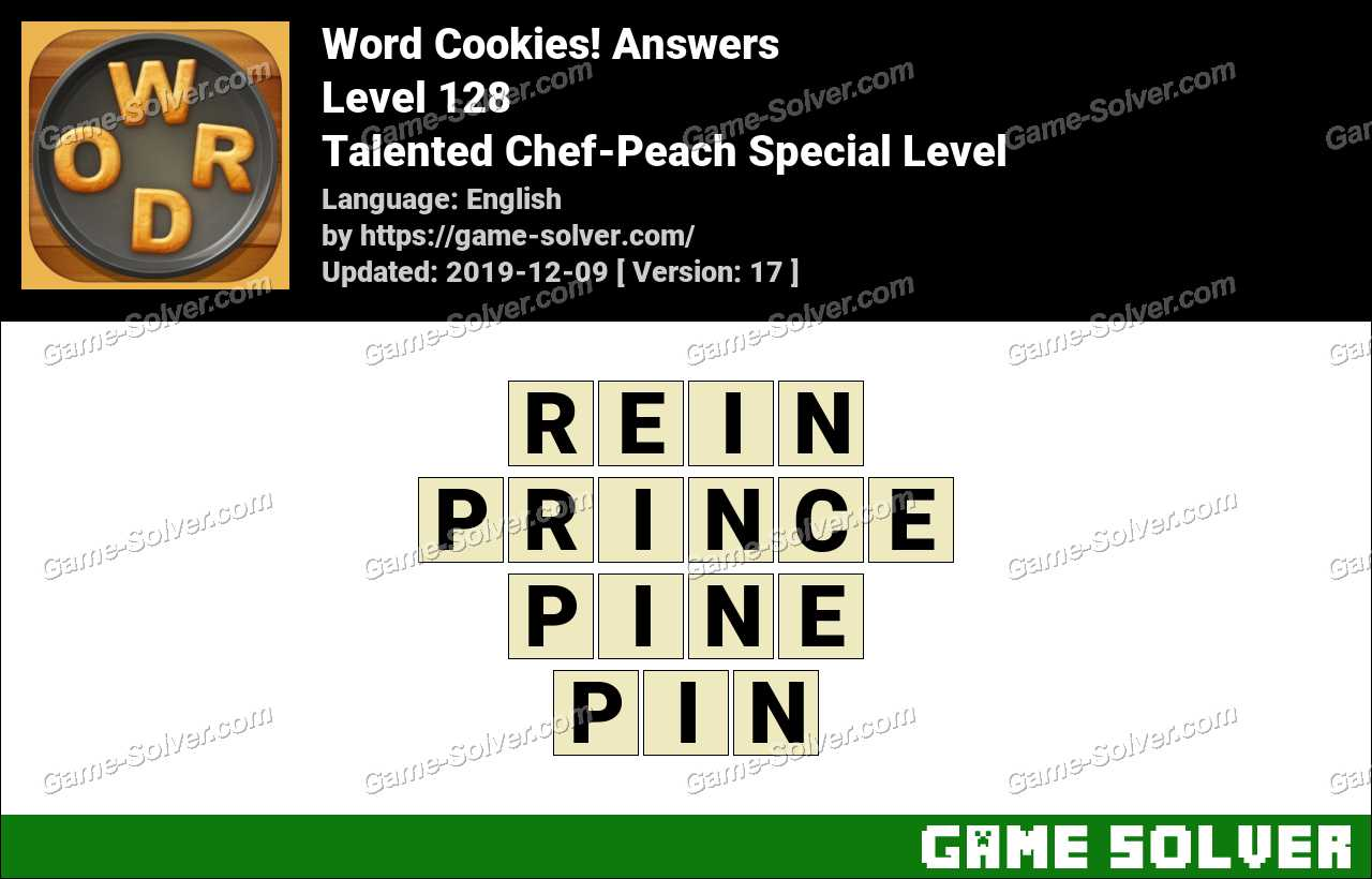 Word Cookies Talented Chef-Peach Special Level Answers