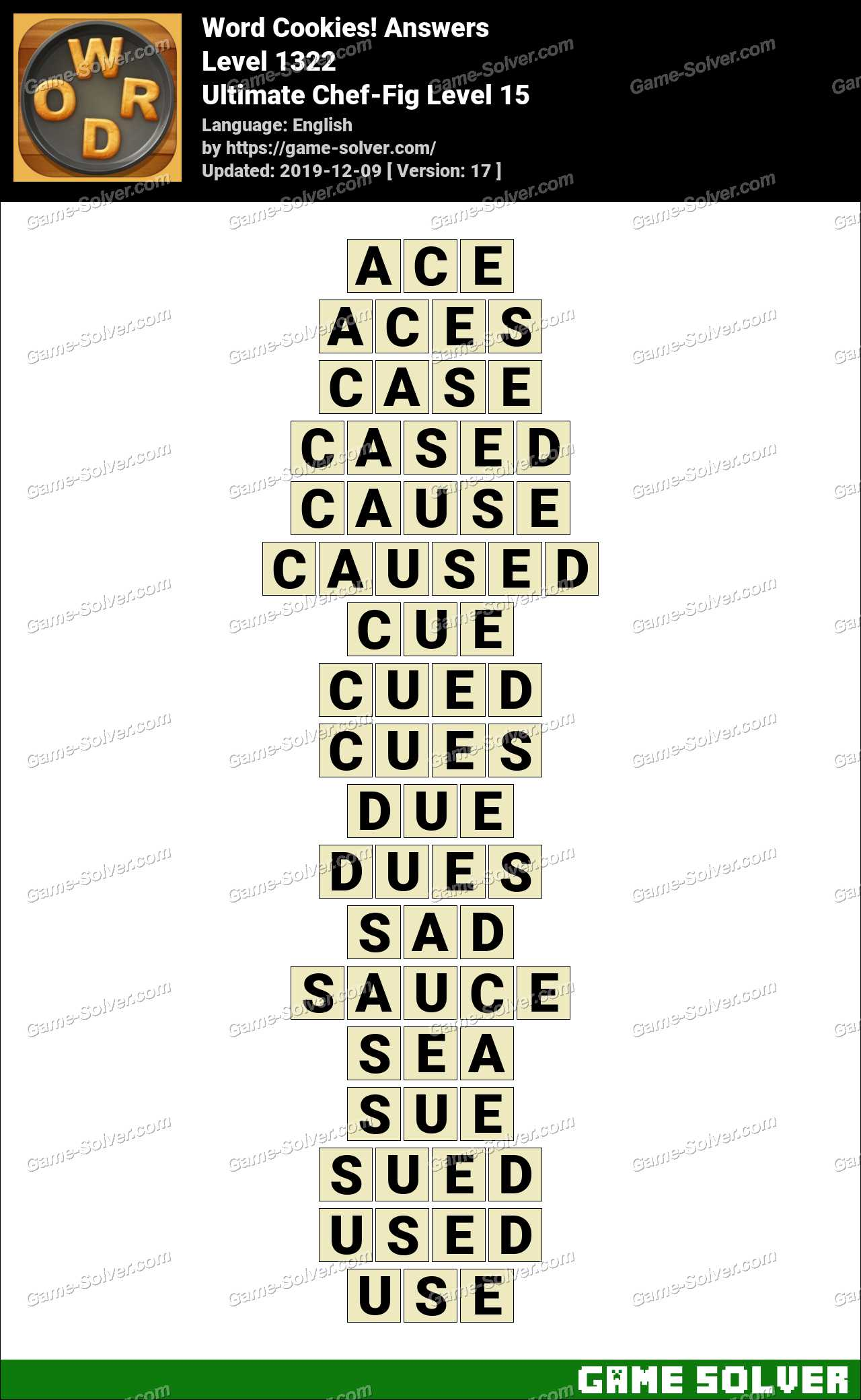 Word Cookies Ultimate Chef-Fig Level 15 Answers