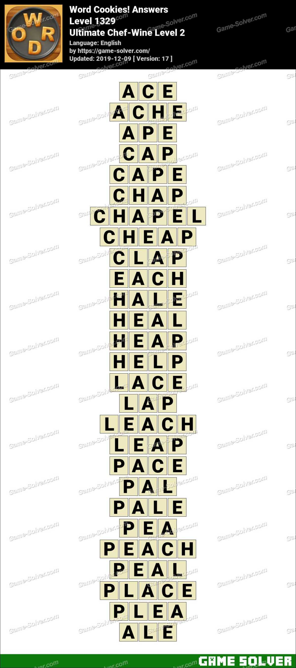 Word Cookies Ultimate Chef-Wine Level 2 Answers
