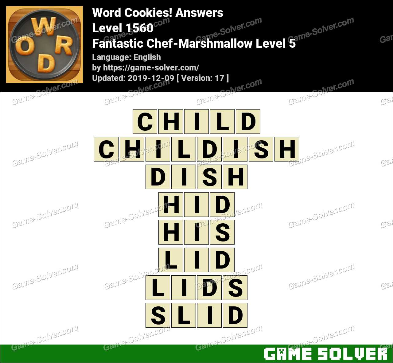 Word Cookies Fantastic Chef-Marshmallow Level 5 Answers