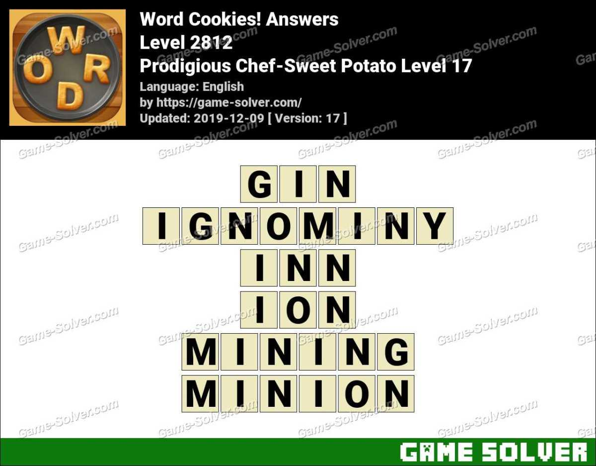Word Cookies Prodigious Chef-Sweet Potato Level 17 Answers
