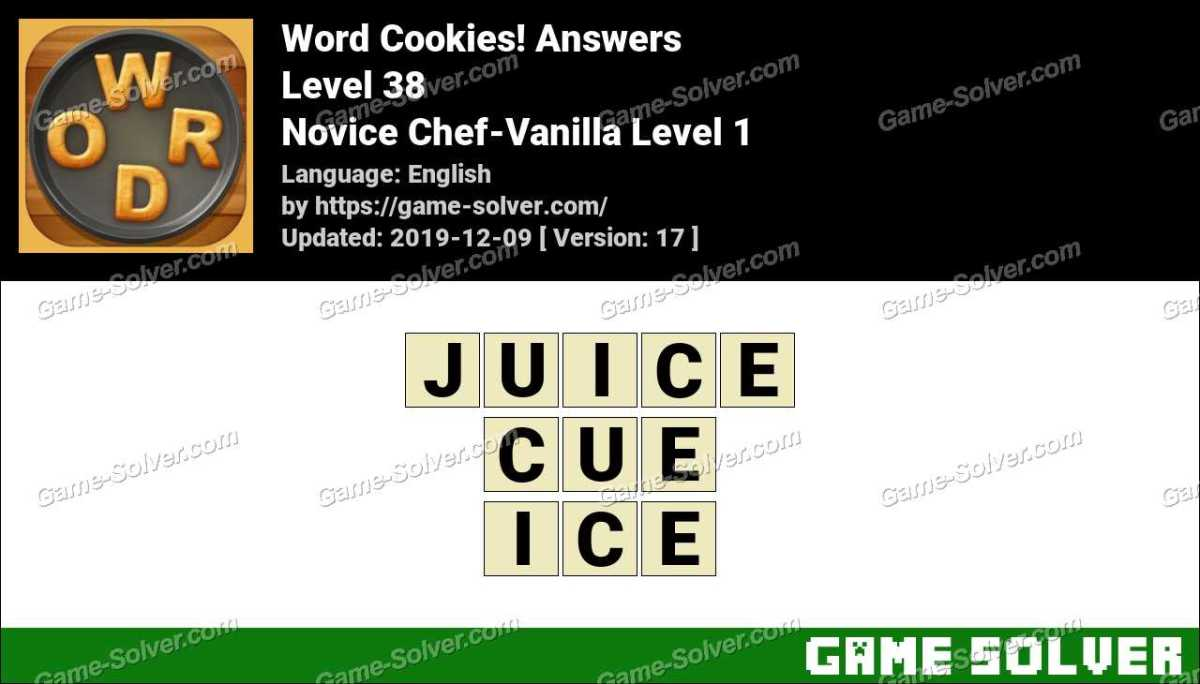 Word Cookies Novice Chef-Vanilla Level 1 Answers