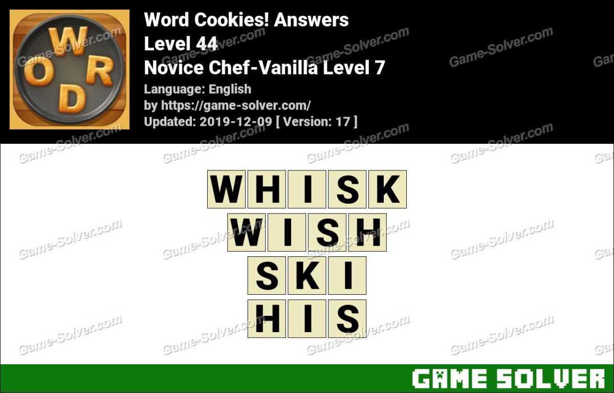 Word Cookies Novice Chef-Vanilla Level 7 Answers
