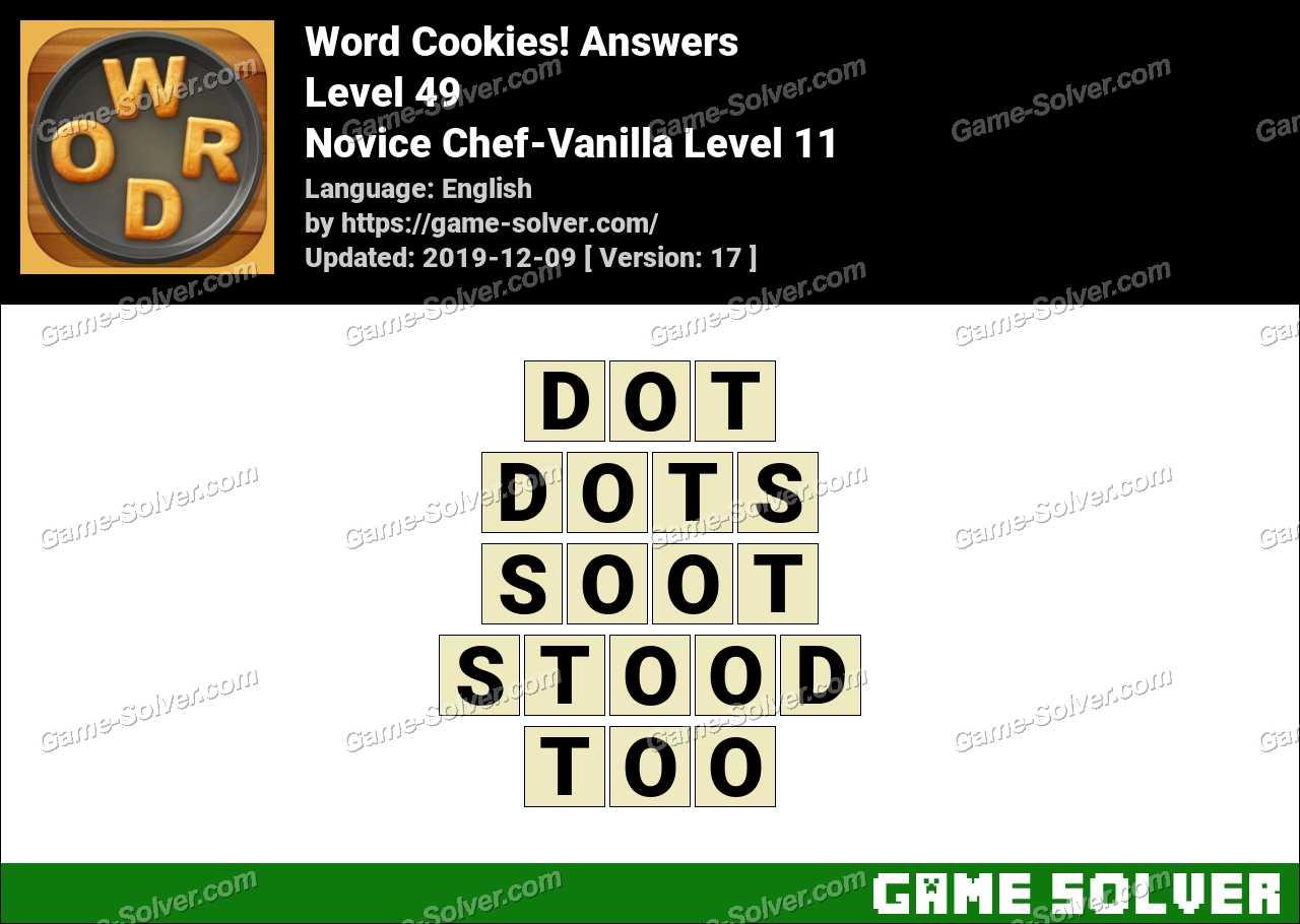 Word Cookies Novice Chef-Vanilla Level 11 Answers