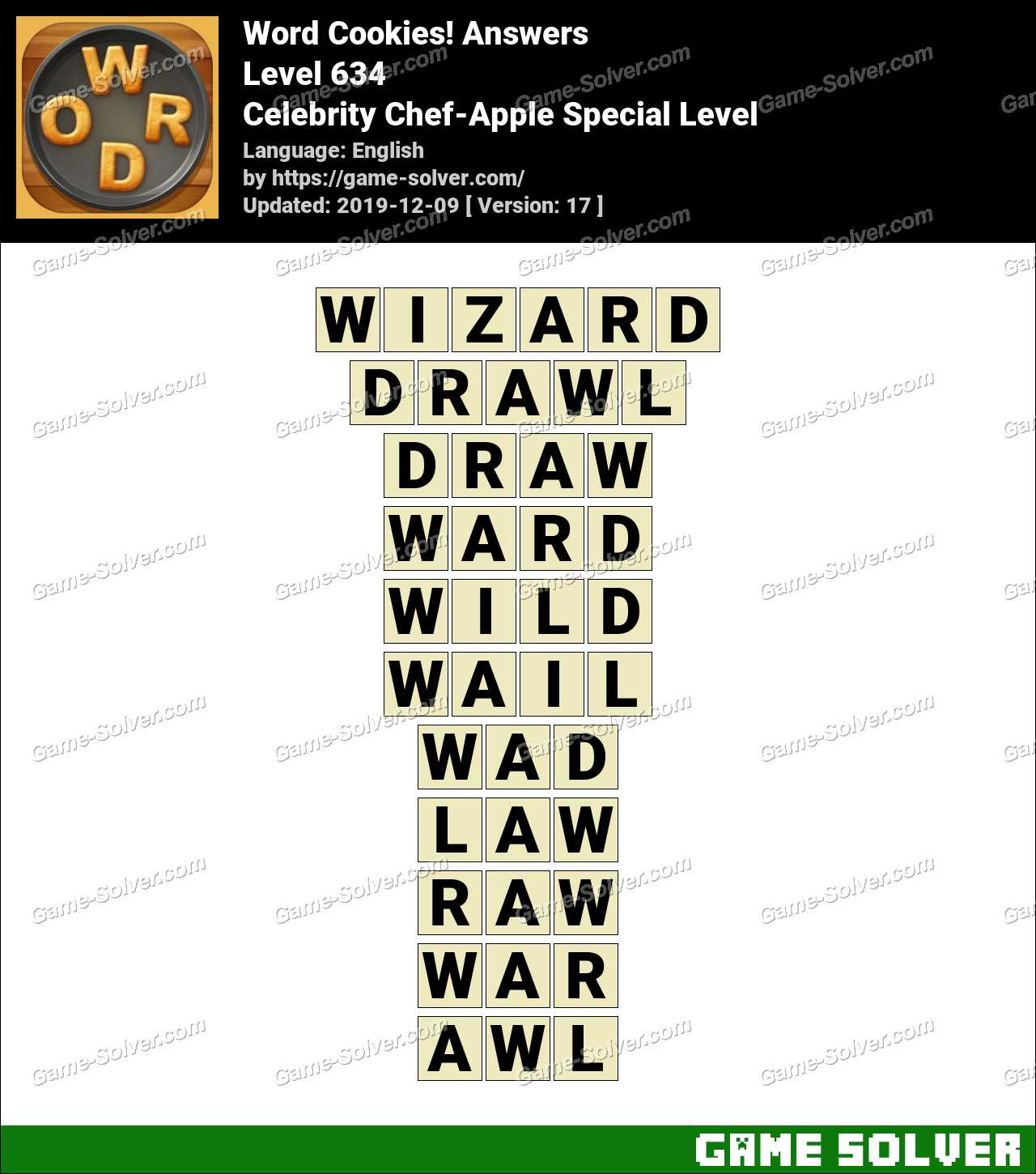 Word Cookies Celebrity Chef-Apple Special Level Answers