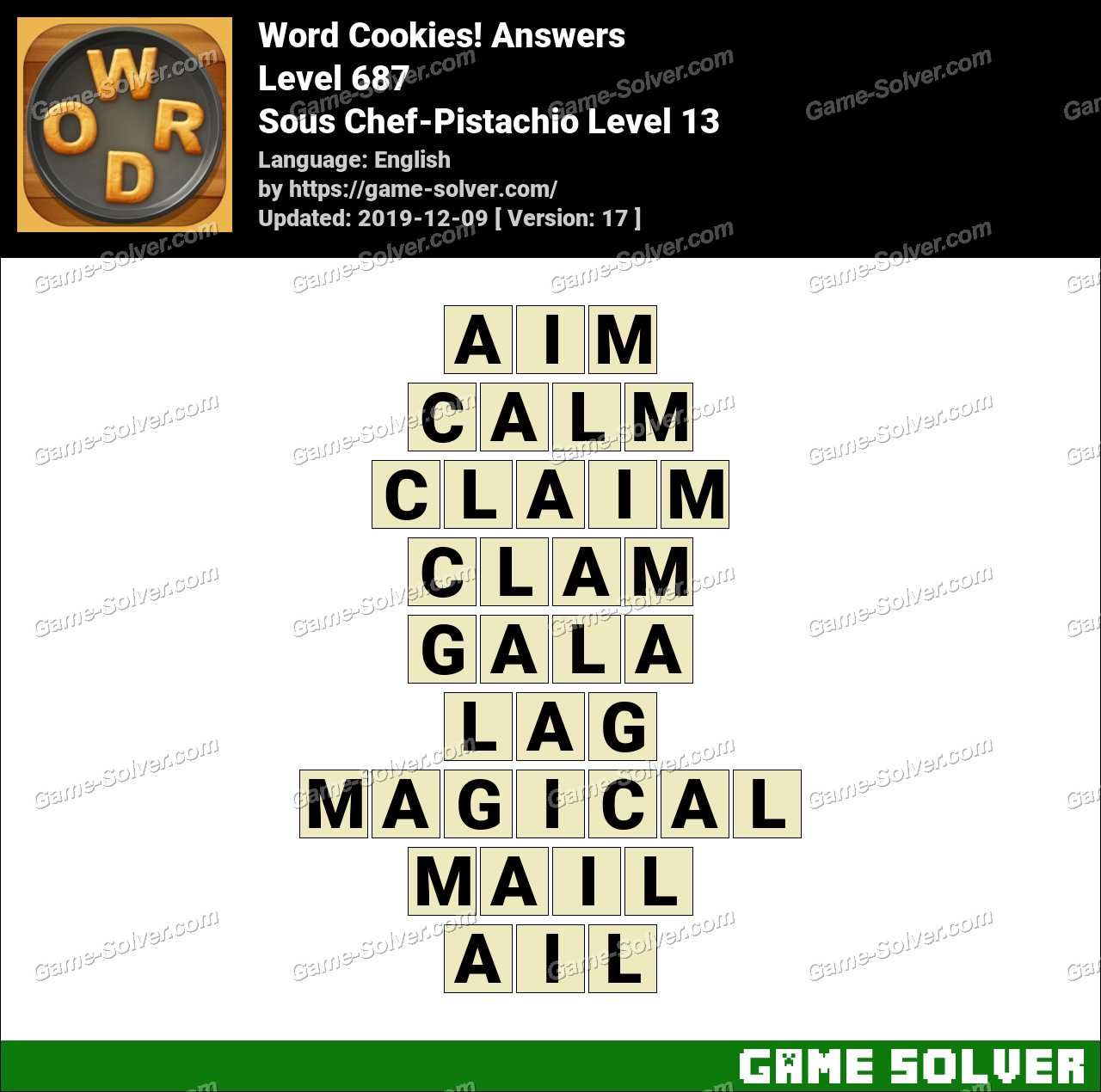 Word Cookies Sous Chef-Pistachio Level 13 Answers
