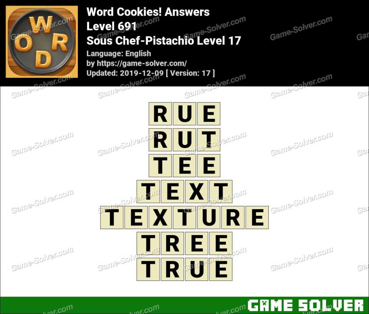 Word Cookies Sous Chef-Pistachio Level 17 Answers