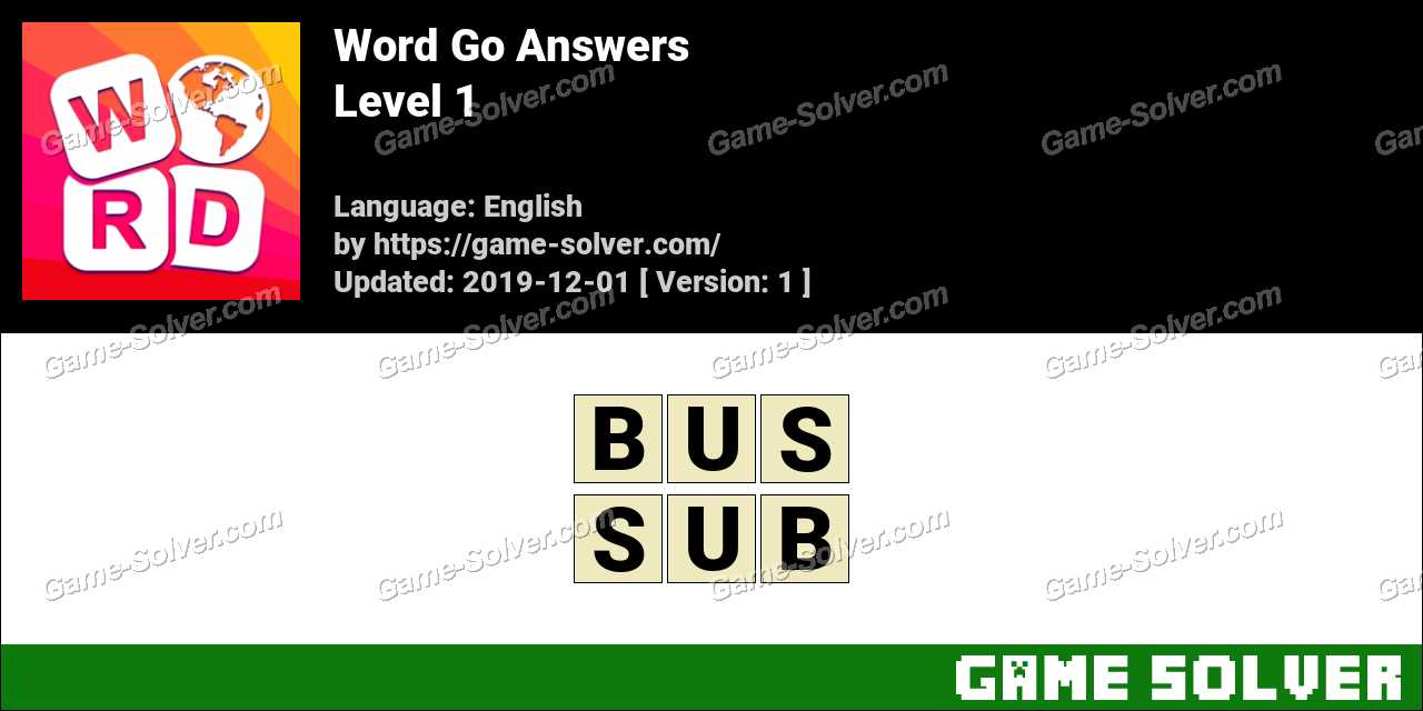 Word Go Level 1 Answers