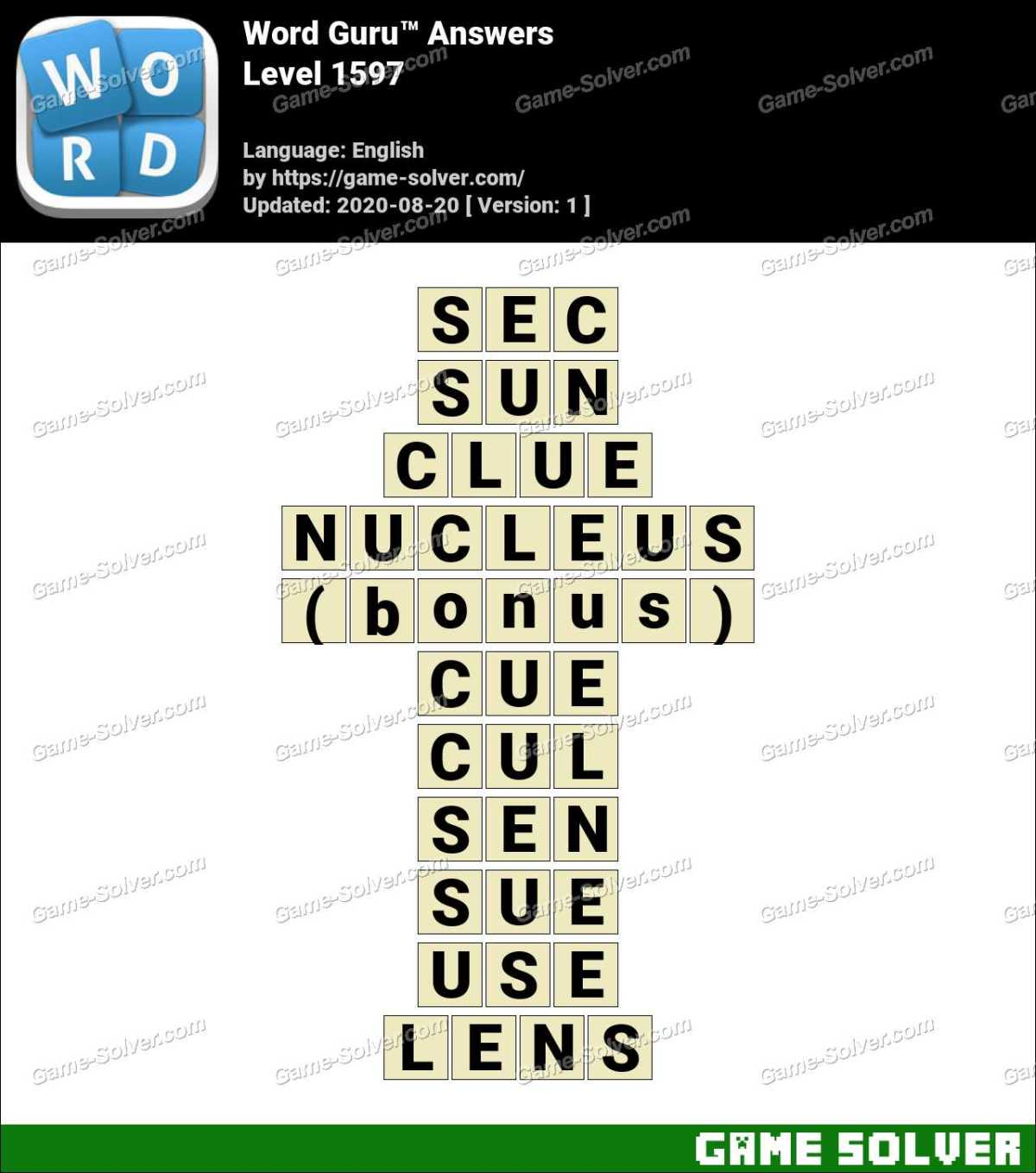 Word Guru Level 1597 Answers