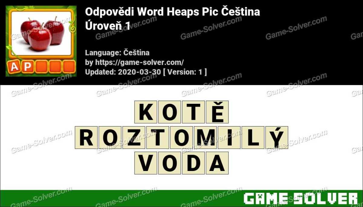 Odpovědi Word Heaps Pic Puzzle Úroveň 1