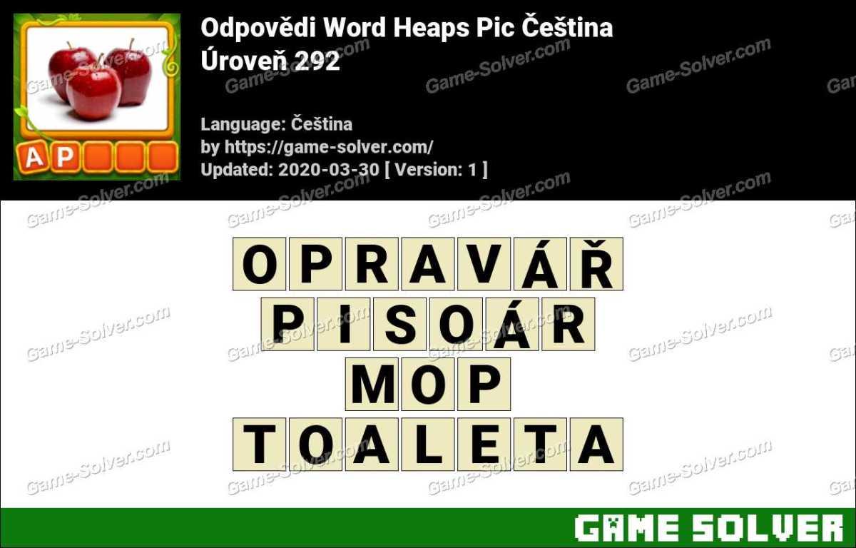 Odpovědi Word Heaps Pic Puzzle Úroveň 292