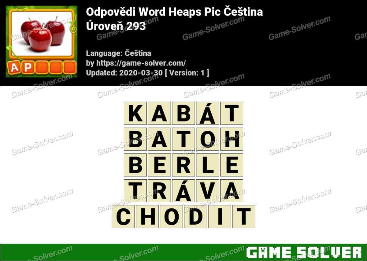 Odpovědi Word Heaps Pic Puzzle Úroveň 293