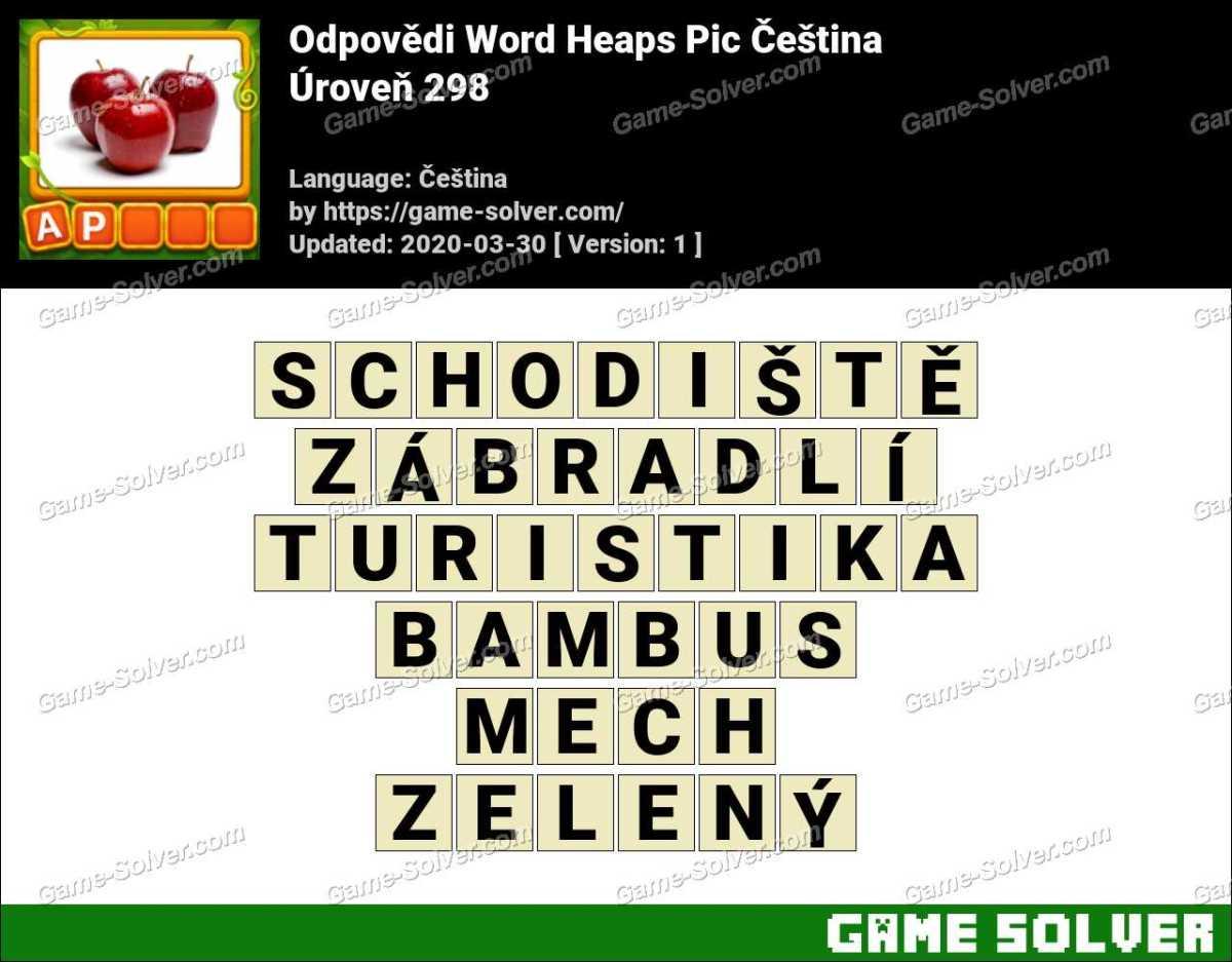 Odpovědi Word Heaps Pic Puzzle Úroveň 298