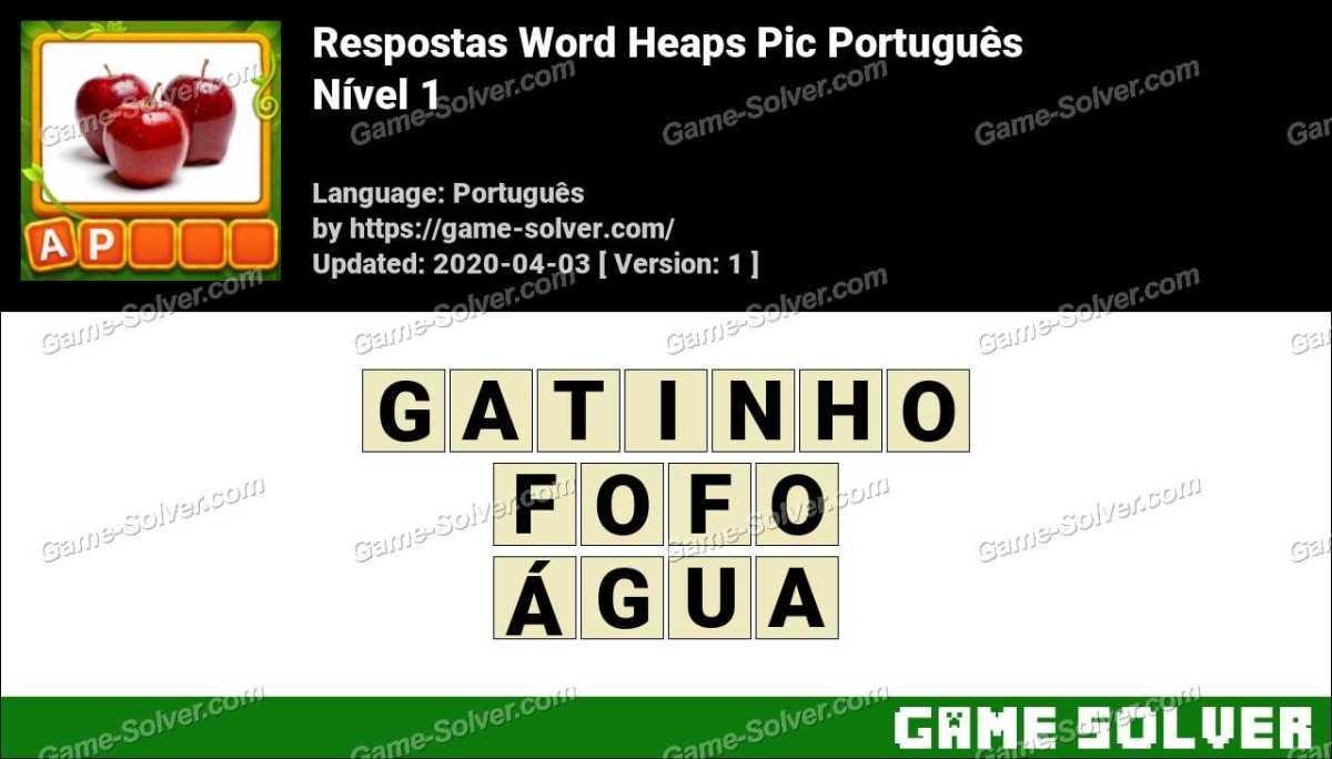 Word Heaps Pic Puzzle Nível 1