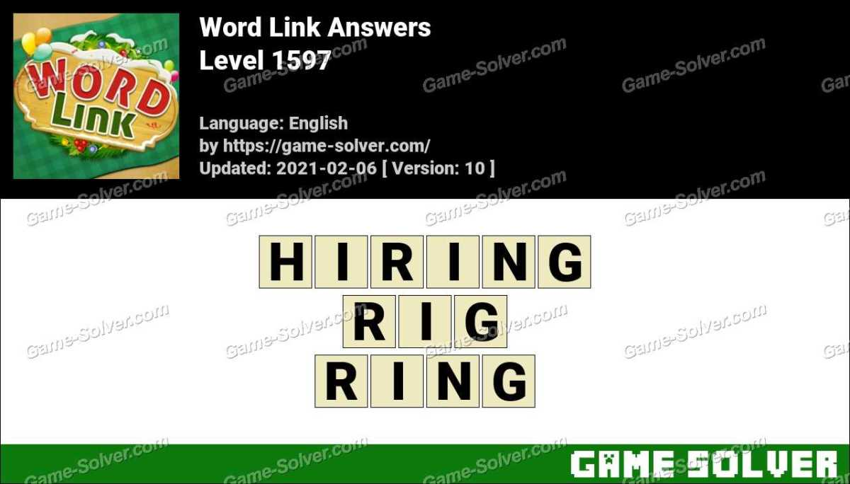 Word Link Level 1597 Answers