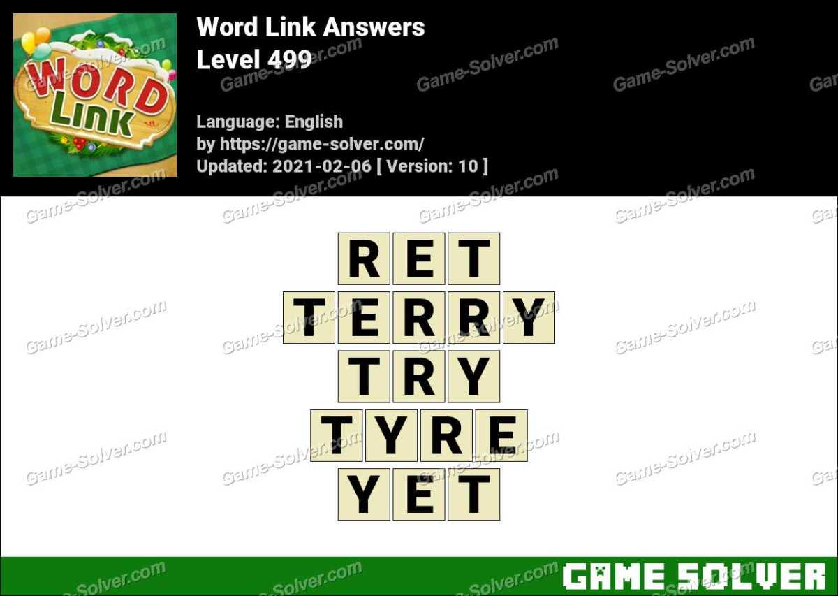 Word Link Level 499 Answers
