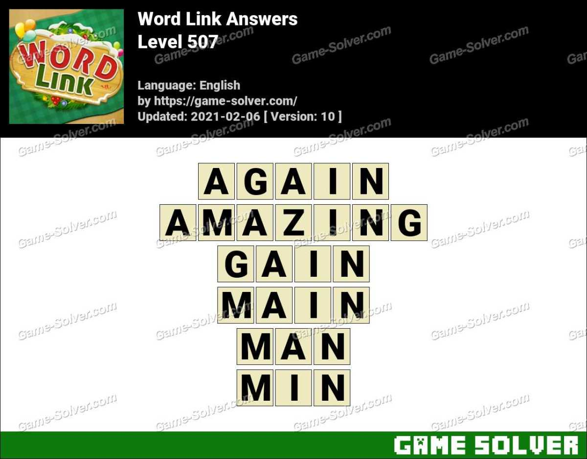 Word Link Level 507 Answers