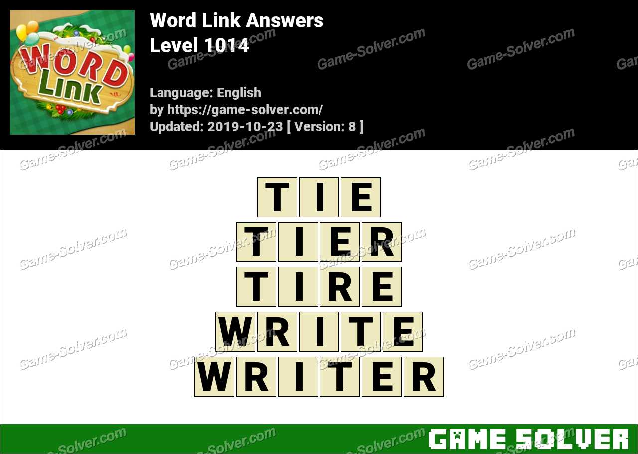 Word Link Level 1014 Answers