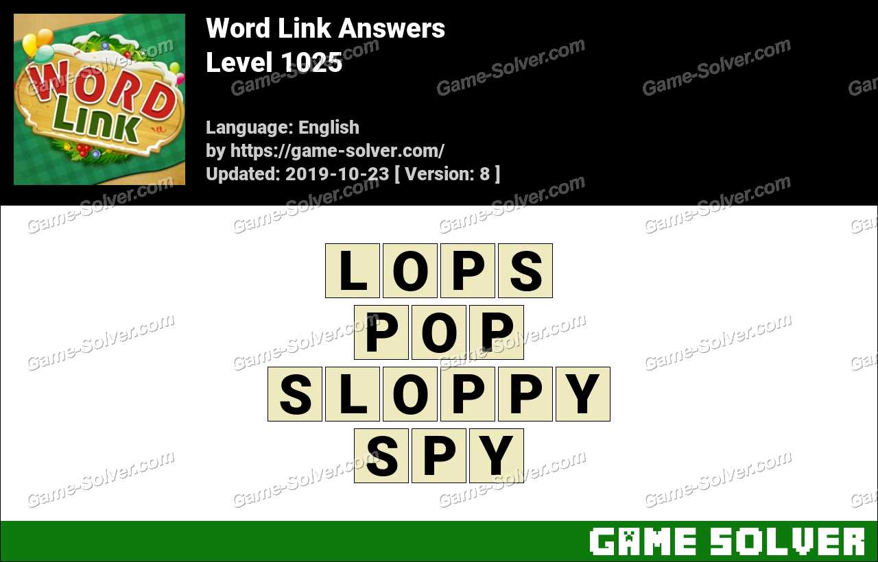 Word Link Level 1025 Answers