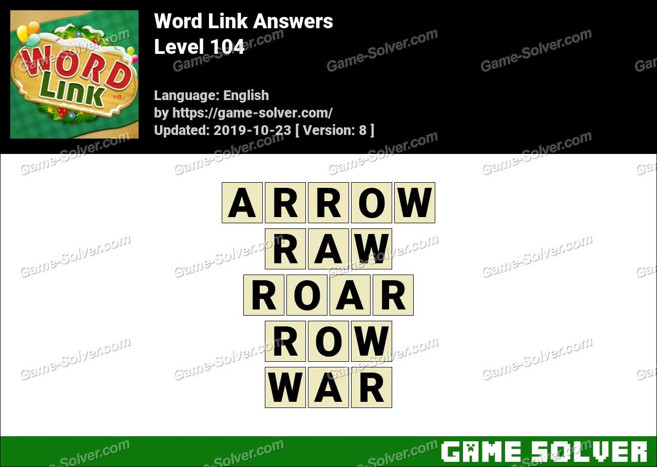 Word Link Level 104 Answers