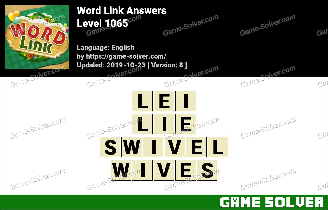 Word Link Level 1065 Answers