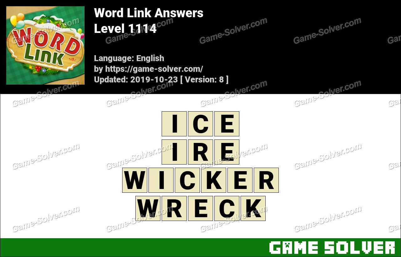 Word Link Level 1114 Answers