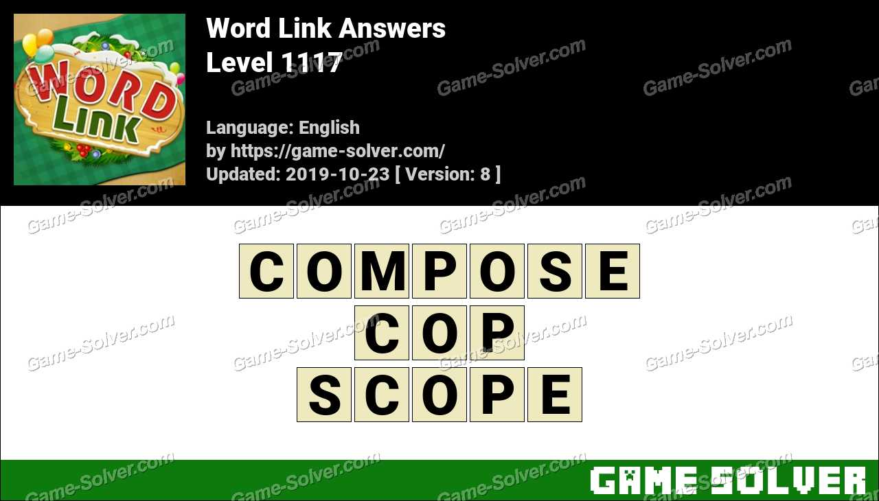 Word Link Level 1117 Answers