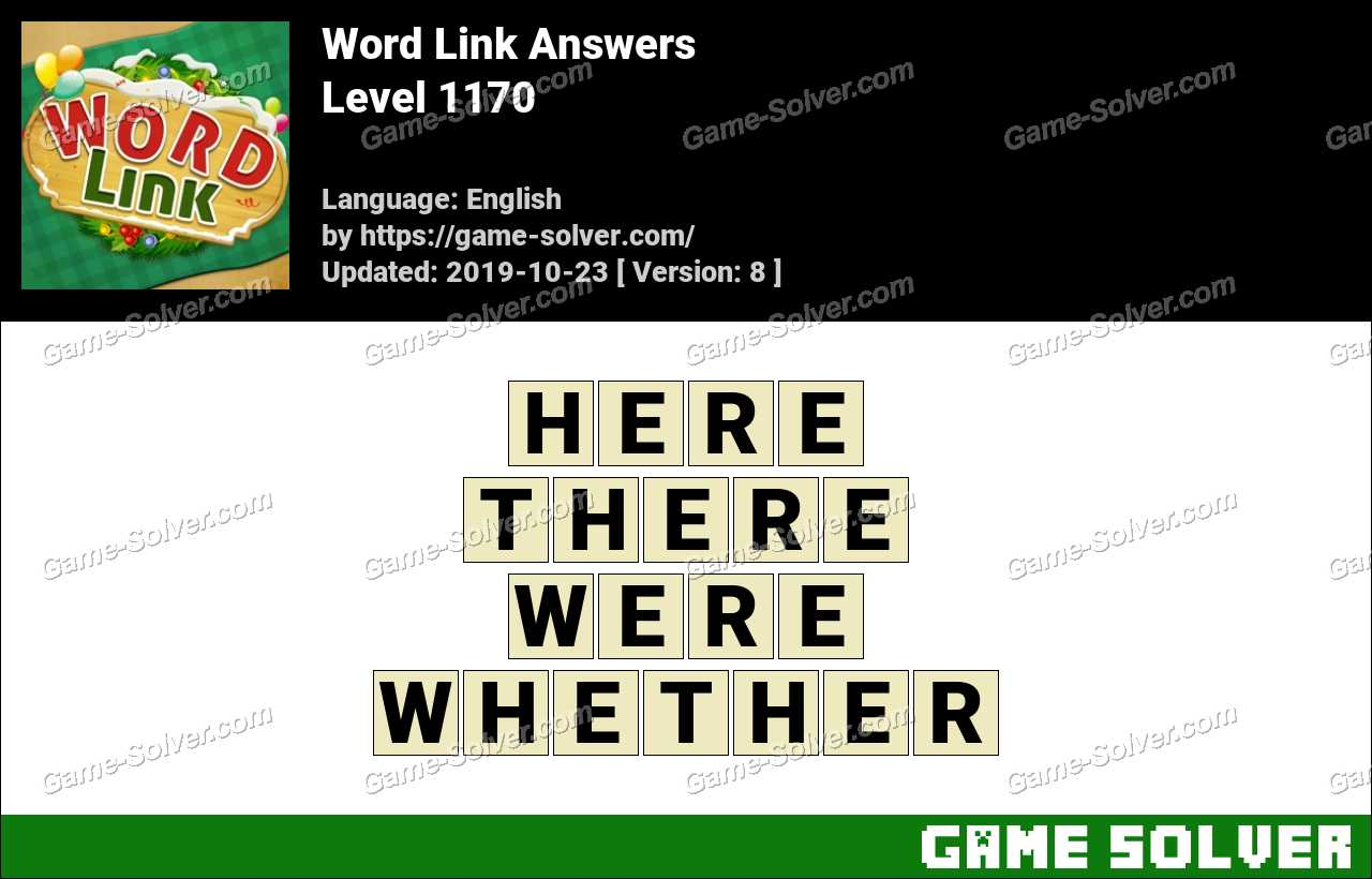 Word Link Level 1170 Answers