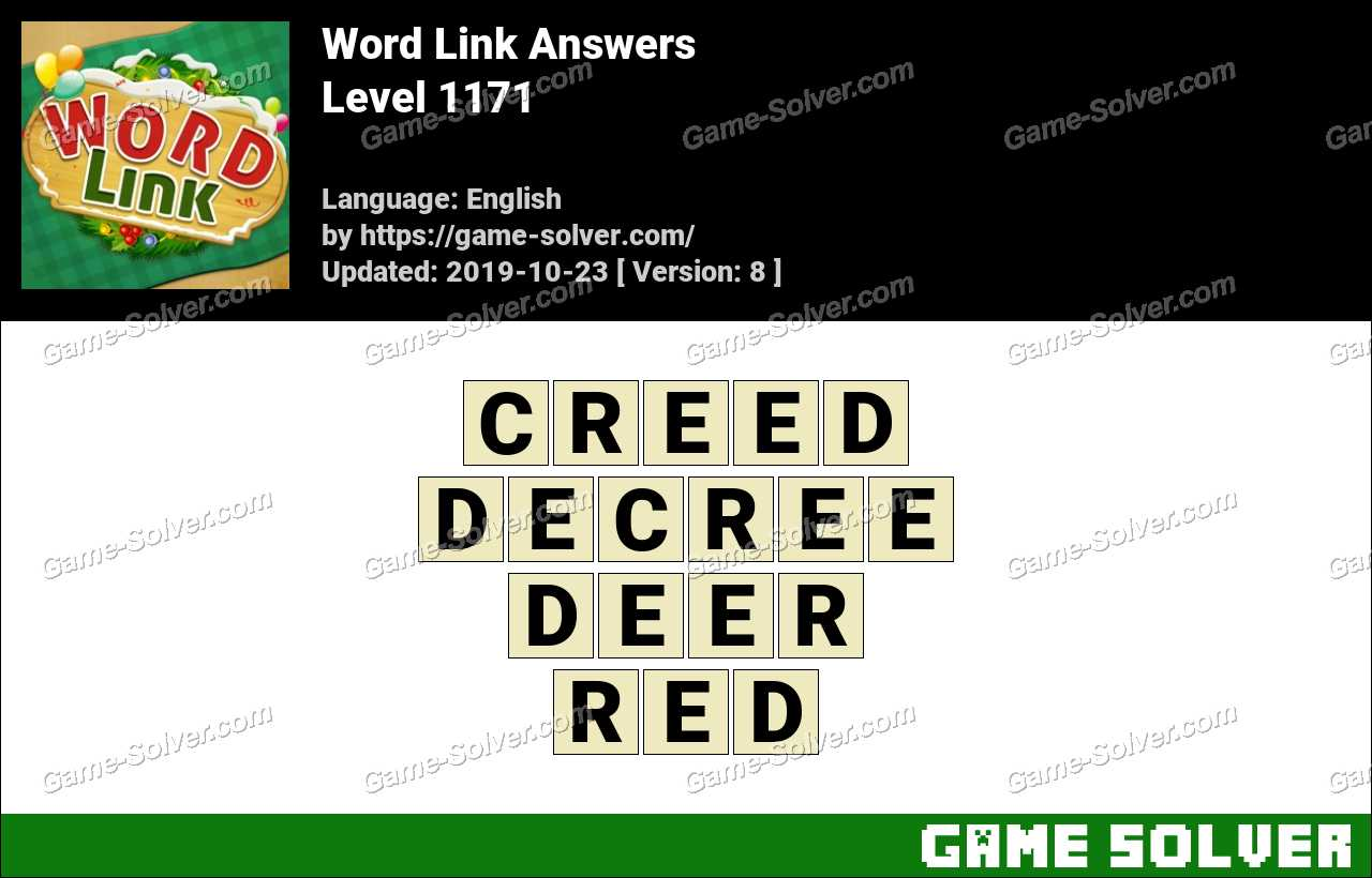 Word Link Level 1171 Answers