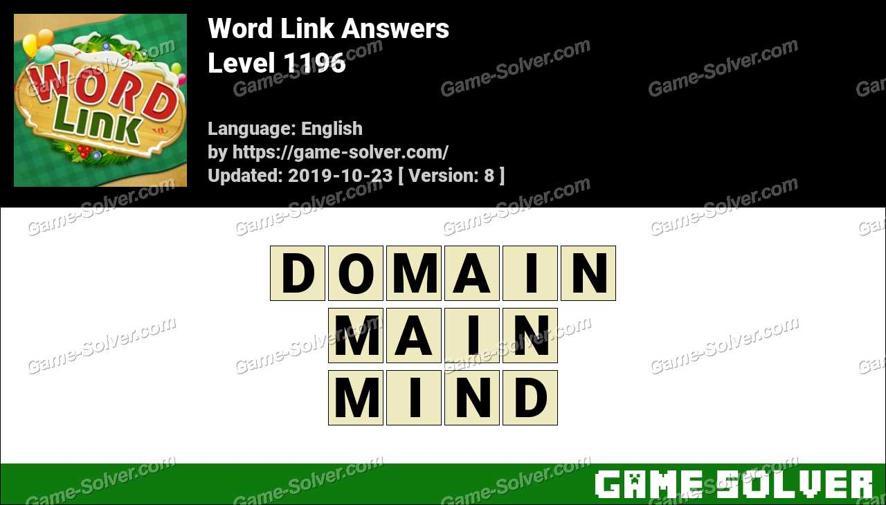 Word Link Level 1196 Answers