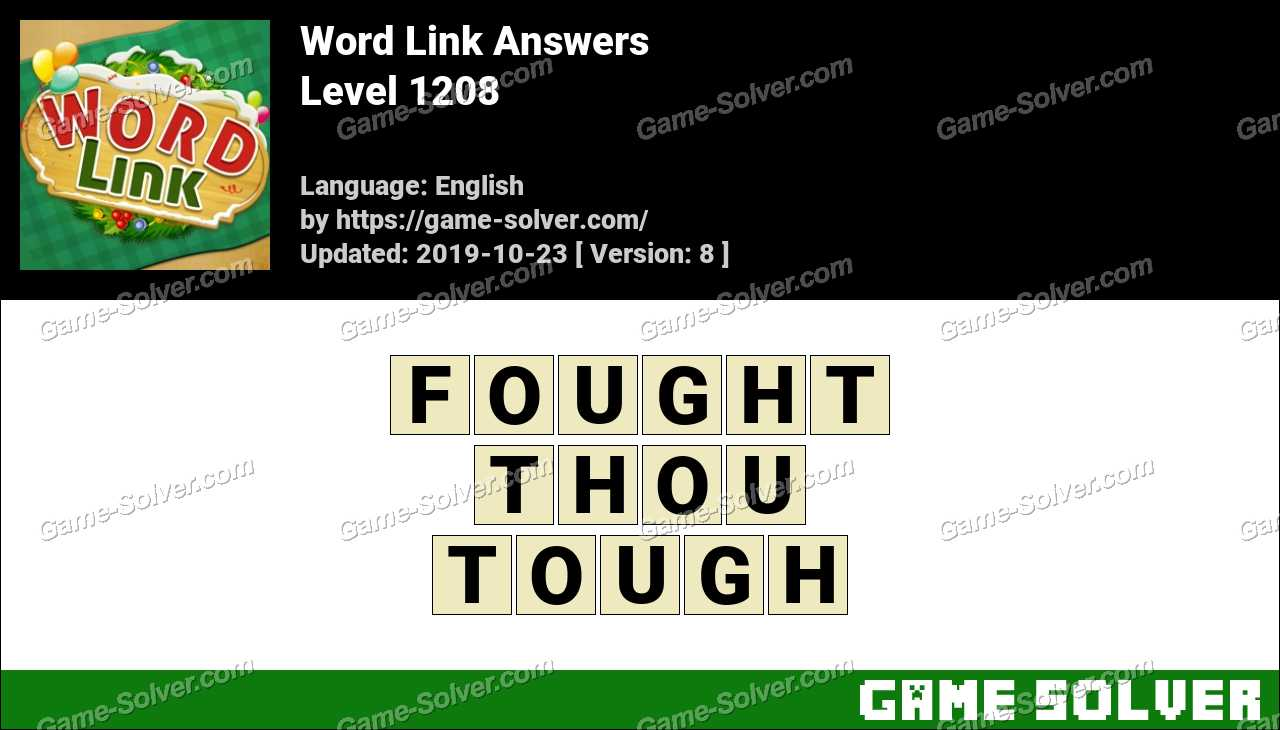 Word Link Level 1208 Answers