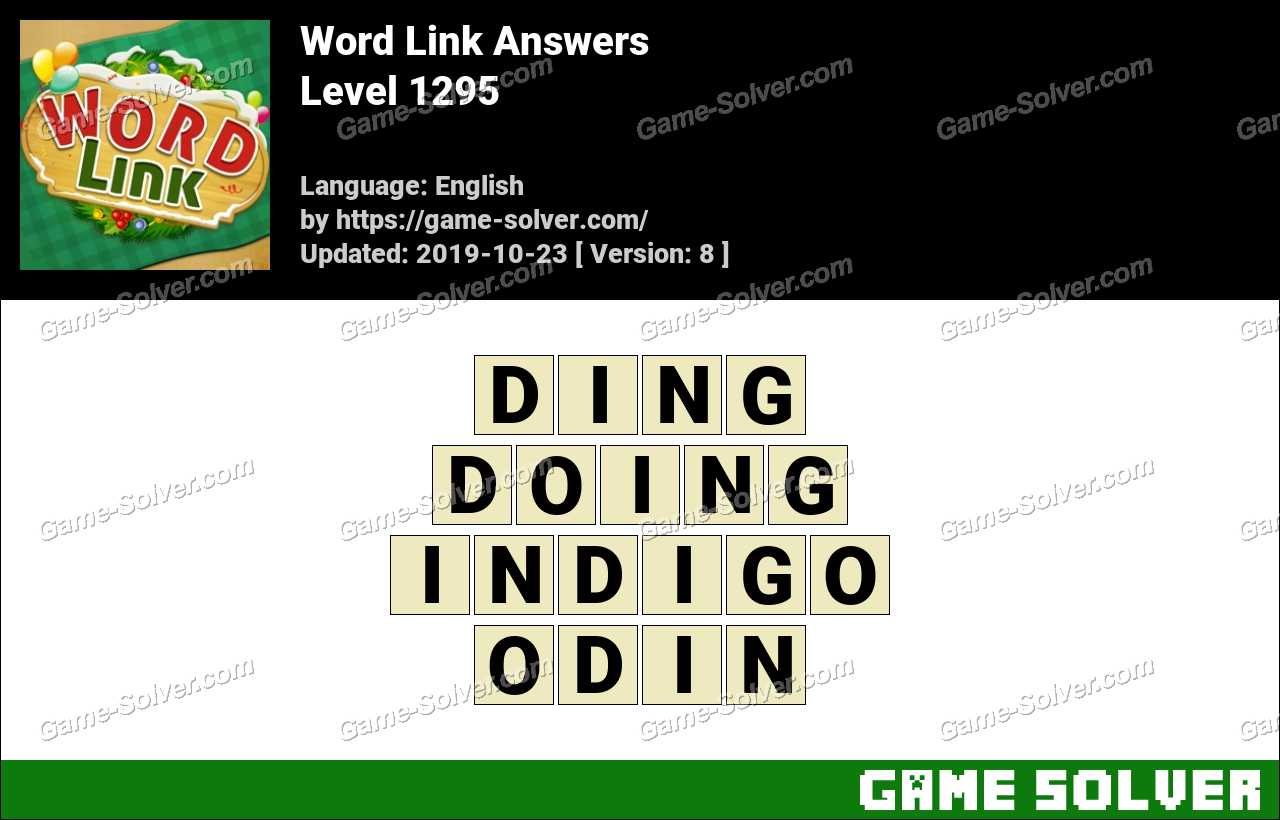 Word Link Level 1295 Answers