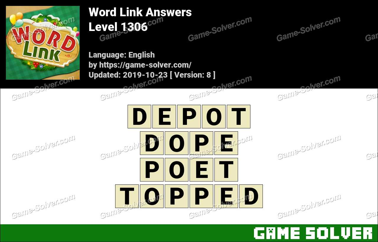 Word Link Level 1306 Answers