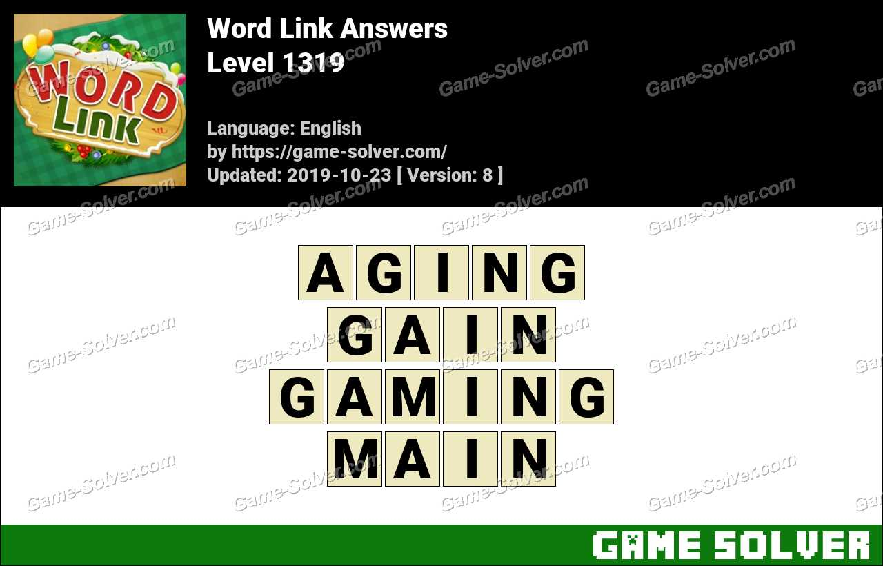 Word Link Level 1319 Answers
