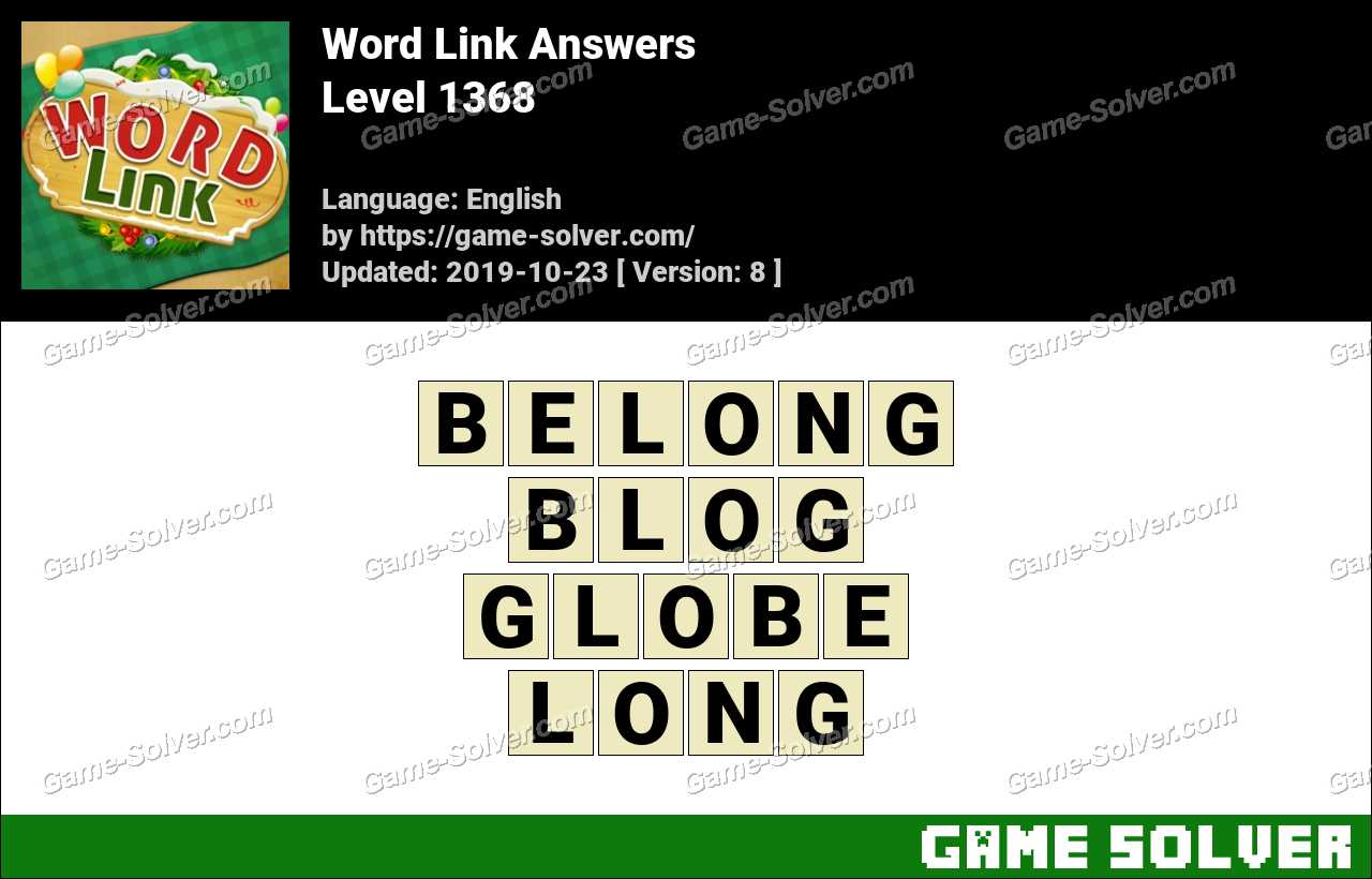 Word Link Level 1368 Answers