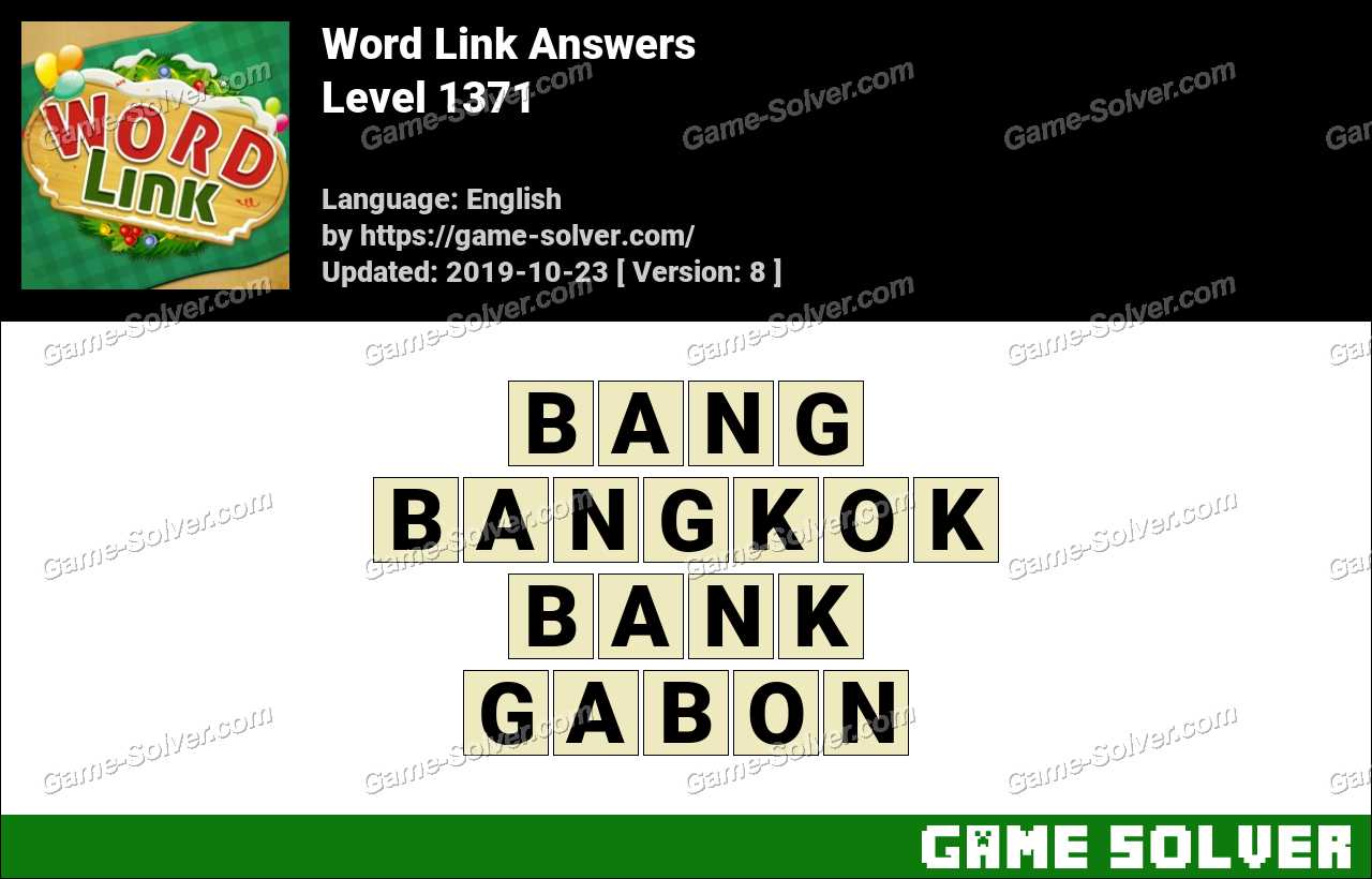 Word Link Level 1371 Answers