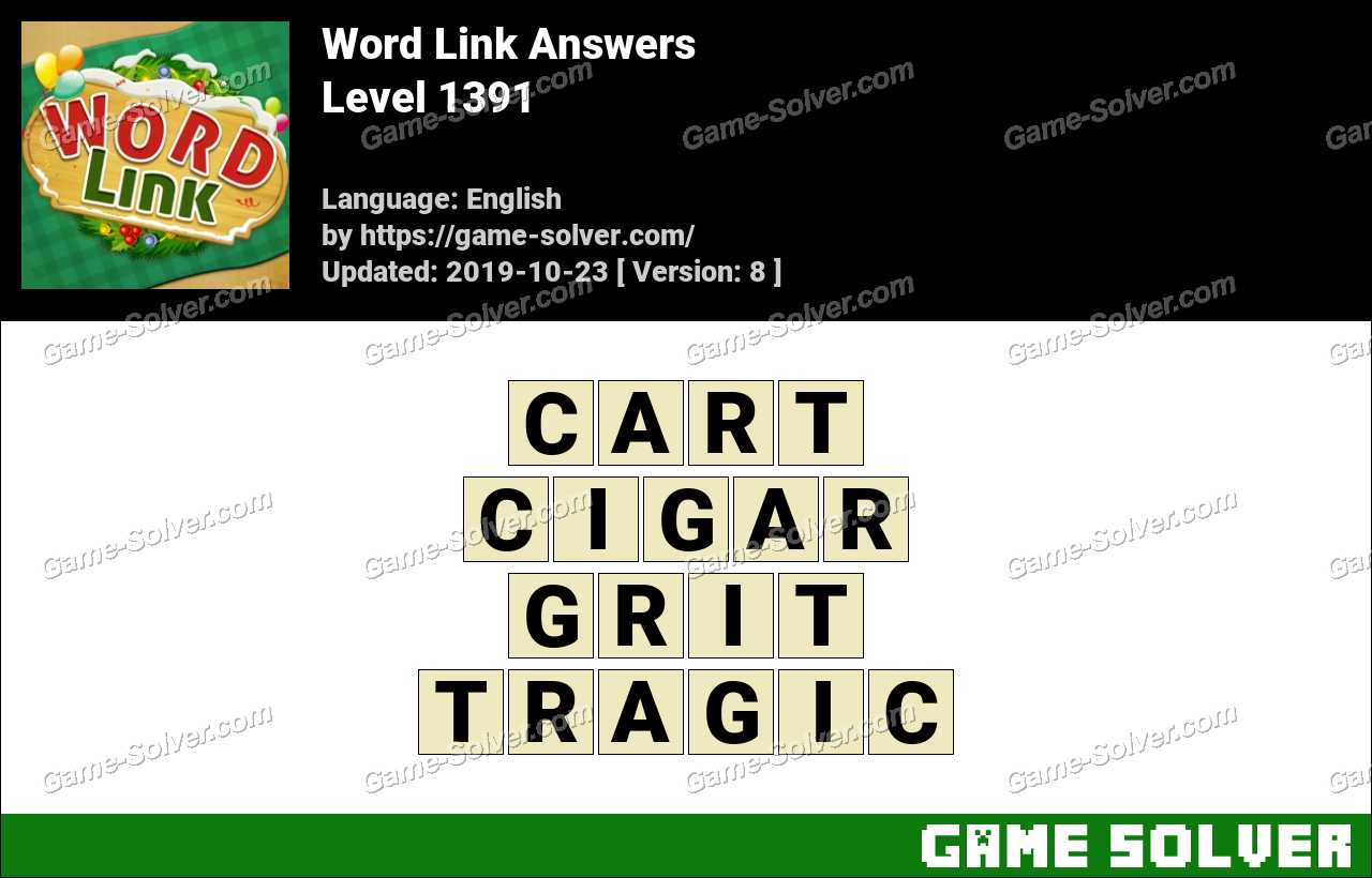 Word Link Level 1391 Answers
