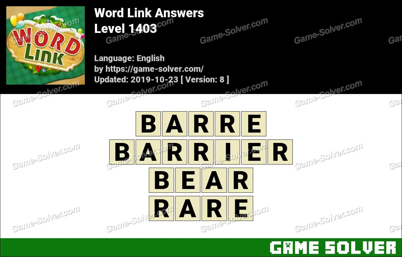 Word Link Level 1403 Answers